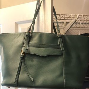 Hunter green large purse